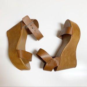 Bamboo platform wedges sandals